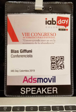 Blas Giffuni speaker at IABday Colombia